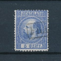 Nederland 1867 Koning Willem III 5 ct blauw NVPH 7 Gestempeld