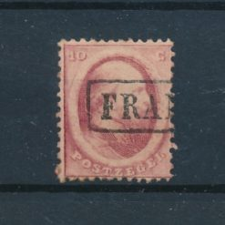 Nederland 1864 Koning Willem III 10 ct rood NVPH 5 Gestempeld