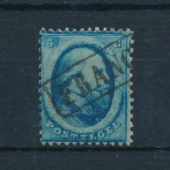 Nederland 1864 Koning Willem III 5 ct blauw NVPH 4 Gestempeld