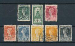 Nederland 1923 25 jarig Regeringsjubileum koningin Wilhelmina NVPH 121-128 Gestempeld