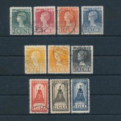 Nederland 1923 25 jarig Regeringsjubileum koningin Wilhelmina NVPH 121-131 Gestempeld