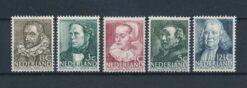 Nederland 1938 Zomerzegels NVPH 305-309 Ongebruikt