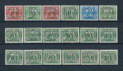 Nederland 1940 Traliezegels 18 waarden NVPH 356-373 Ongebruikt