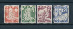 Nederland 1930 Kinderzegels NVPH 232-235 Ongebruikt