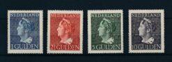 Nederland 1946 Koningin Wilhelmina. Hoge waarden Konijnenburg NVPH 346-349 ongebruikt