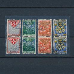 Nederland 1926 Kinderzegels roltanding R74-R77 verticaal paar gestempeld