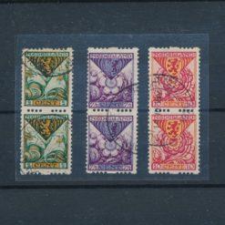 Nederland 1925 Kinderzegels roltanding R71-R73 verticaal paar gestempeld
