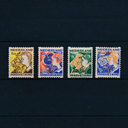 Nederland 1932 Kinderzegels roltanding R94-R97 Postfris 1