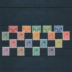 Nederland 1925 Tweezijdige roltanding R1-R18 Postfris
