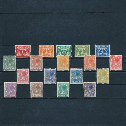 Nederland 1925 Tweezijdige roltanding R1-R18 Postfris 1