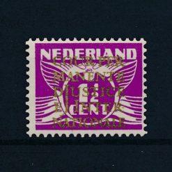 Nederland 1934-1938 Dienstzegel  Cijferzegel 1,5 cent vliegende duif met goudopdruk D9 postfris