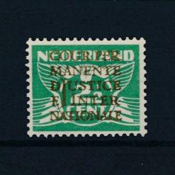 Nederland 1934-1938 Dienstzegel  Cijferzegel 2,5 cent vliegende duif met goudopdruk D10 postfris