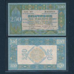 Nederland 1922 2 Gulden Zilverbon Pracht