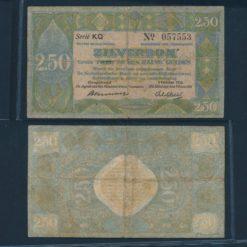 Nederland 1918 2 Gulden Zilverbon Zeer goed