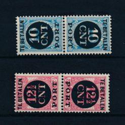 Nederland 1924 Portzegels keerdrukken zonder tussenstrook NVPH P67a-P68a Ongebruikt