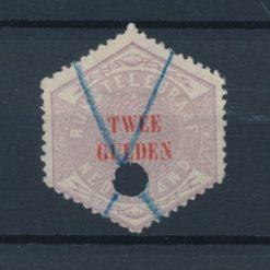 Nederland 1877-1903 Telegramzegel 2 gulden NVPH TG12 Gestempeld