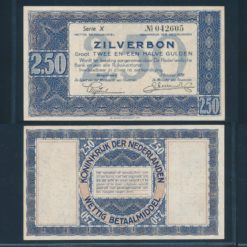 Nederland 1938 2 Gulden Zilverbon Pracht