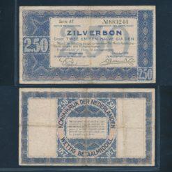 Nederland 1938 2 Gulden Zilverbon Fraai -
