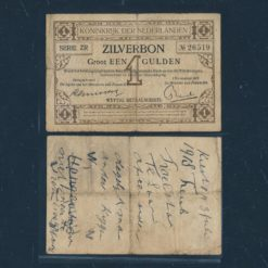 Nederland 1916 1 Gulden Zilverbon Zeer goed