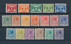 Nederland 1925 Veth Tweezijdige Roltanding zonder watermerk NVPH R1-R18 Ongebruikt