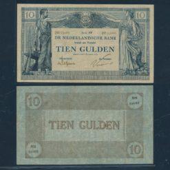 Nederland 1924 10 Gulden Bankbiljet Fraai +