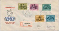 Nederland 1952 FDC Kind met getypt adres E11