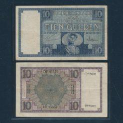 Nederland 1924 10 Gulden Zeeuws meisje Bankbiljet Zeer fraai -