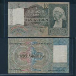 Nederland 1940 10 Gulden Emma Bankbiljet Fraai +