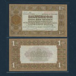 Nederland 1920 1 Gulden Zilverbon 2 Letters Pracht