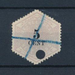 Nederland 1877-1903 Telegramzegel 5 cent NVPH TG3 Gestempeld