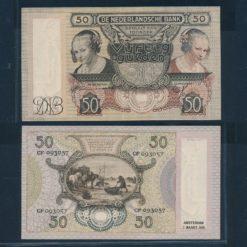 Nederland 1941 50 Gulden Oester eetster Bankbiljet Pracht