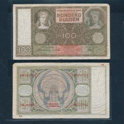 Nederland 1930 100 Gulden Luitspelende vrouw Bankbiljet Handtekening Westerman Holstijn - Trip Zeer fraai
