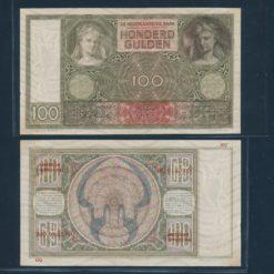 Nederland 1930 100 Gulden Bankbiljet Zeer fraai