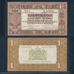 Nederland 1938 1 Gulden Zilverbon 1 Letter Pracht