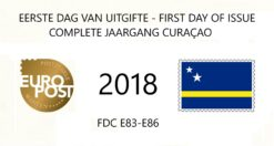 Curacao 2018 Complete jaargang Eerste Dag Enveloppen