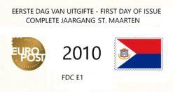 Sint Maarten 2010 Complete jaargang Eerste Dag Enveloppen
