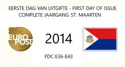 Sint Maarten 2014 Complete jaargang Eerste Dag Enveloppen
