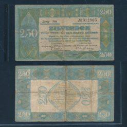 Nederland 1922 2 Gulden Zilverbon Zeer goed