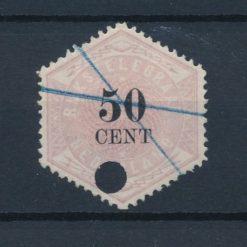 Nederland 1877-1903 Telegramzegel 50 cent NVPH TG9 Gestempeld