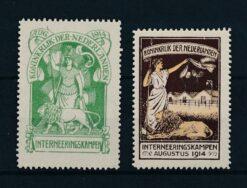 Nederland 1916 Interneringszegels met certificaat Moeijes 1995 NVPH IN1-IN2 Postfris