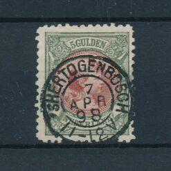 Nederland 1893 Prinses Wilhelmina 5 Gulden bronsgroen en roodbruin NVPH 48 Gestempeld