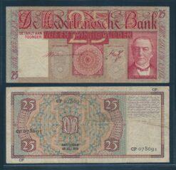 Nederland 1931 25 Gulden Mees bankbiljet Zeer Fraai min