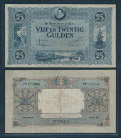 Nederland 1927 25 Gulden Willem van Oranje bankbiljet Zeer Fraai min