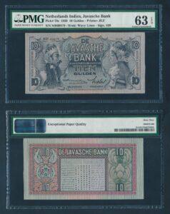 Nederland Indie 1939 10 Gulden UNC - Graded PMG 63 EPQ