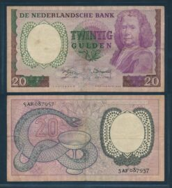 Nederland 1955 20 Gulden Boerhaave bankbiljet Fraai