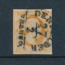 Nederland 1852 Koning Willem III 15 cent oranje NVPH 3 Gestempeld