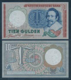Nederland 1953 10 Gulden Hugo de Groot bankbiljet UNC