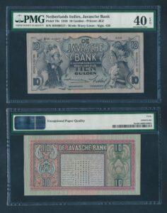 Nederland Indie 1939 10 Gulden Pracht - Graded PMG 40 EPQ
