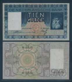 Nederland 1933 10 Gulden Grijsaard bankbiljet Pracht min
