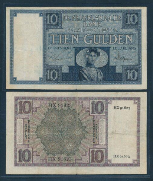 Nederland 1924 10 Gulden Zeeuws meisje bankbiljet Zeer Fraai min 1